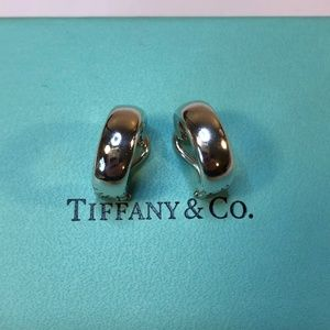Tiffany & Co Sterling Silver Hoop Clipon Clip-on E